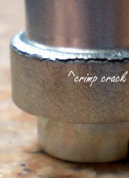 Cracks can develop after cold work is performed on machined parts.
