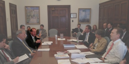 Brad Smith  at a recent Congressional Small Business Working Group Meeting