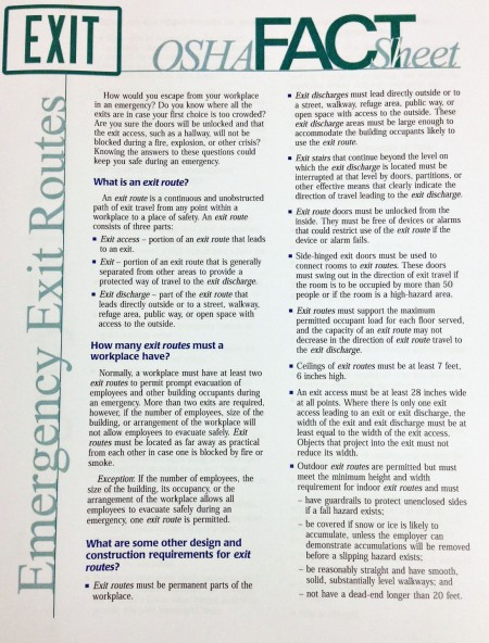 OSHA Exit Fact Sheet