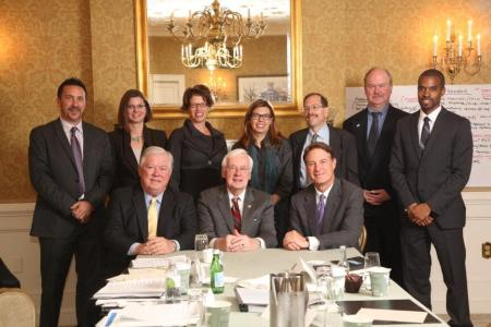 Aaron Bagshaw (back row, Left0 and other members of the Commission at The University of Virginia Miller Center.
