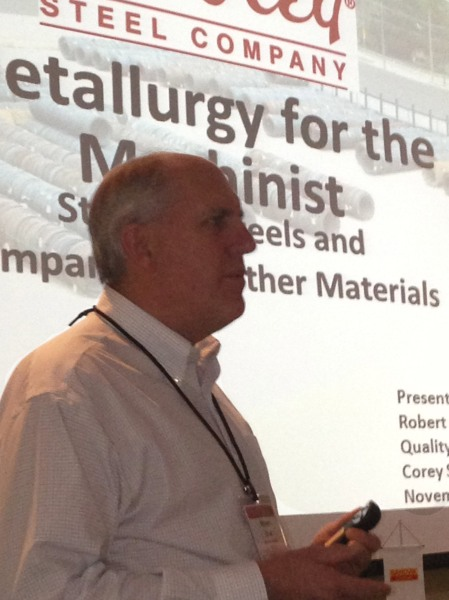 Corey Steel Bob Drab compared machining characteristics of carbon and alloy steels with stainless steels