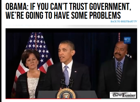 OBAMA Can't Trust The Government
