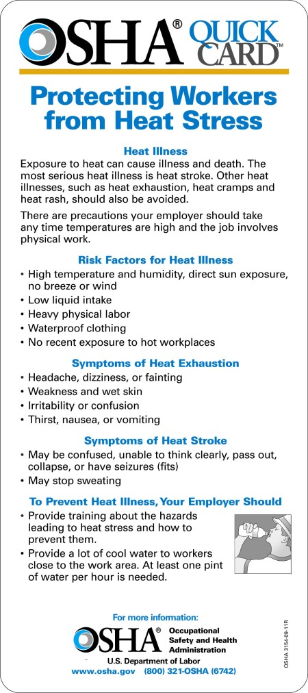 OSHA HEAT STRESS QUICKCARD ENGLISH V_3_8.30.11 :OSHA HEAT STRESS