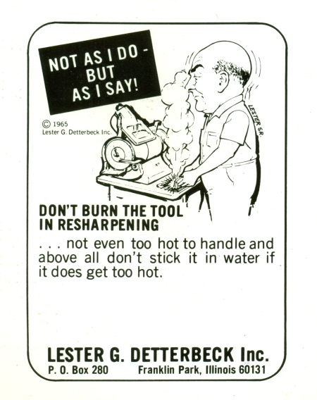 A bit of circa 1965 Knowledge retention for  the archives of Lester Detterbeck Enterprises Ltd.