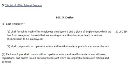Employee Duty
