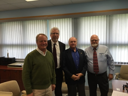 From left, Congressman David Joyce, Miles Free, PMPA, Roger Sustar AWT, And John Stoneback, JM Performance Products, Inc.